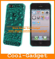 Wholesale 3D bubble Clear Crystal Hard Case Mobile Phone Cover Skin Shell for iPhone S G iPhone5 iPhone5S IP5C141