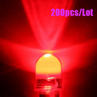 Wholesale 200pcs mm W Red Round LED Leds Kmcd Light
