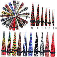 animal stretchers - 12X Fashion Animal Patterned Print Ear Taper Ear Stretcher Ear Expanding Ear Plugs Kit MM styles U Pick BC108
