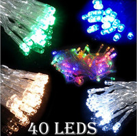 Wholesale DHL FREE XAA Battery LED MINI Fairy String Garden Party Lights White warmwhite Pink blue Green Colorful