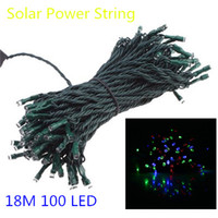 Wholesale Mix Color m LED Solar String Fairy Lights Waterproof Christmas Garden Home Lighting Indoor Outdoor Lights DHL Free