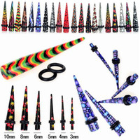 Wholesale 48pcs Mix Fashion Ear Plugs Taper Gauges Ear Expander Ear Stretcher Piercings Knits Body Jewelry BC108