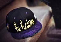 Man snapback wholesale - Black purple hi hater caylor amp sons SNAPBACK caps baseball mitchell amp ness Snapback Hats sports teams hats fifty fitted adjustable caps