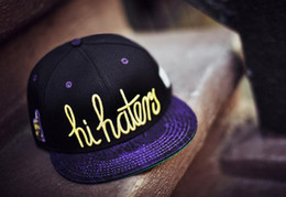 Wholesale Black purple hi hater caylor amp sons SNAPBACK caps baseball mitchell amp ness Snapback Hats sports teams hats fifty fitted adjustable caps