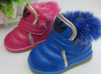 Wholesale The baby cotton shoes rabbit hair girls comfortable cotton shoes soft bottom quality goods