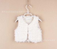clothing manufacturers - Foreign trade children s clothing manufacturers accusing spring girls lace sweet artificial fur waistcoat outerwear SS
