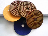 Wholesale 4inch Granite wet diamond polishing pads D100mm polishing pads for marble