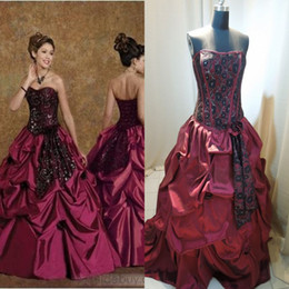 Wholesale Beautydesign Ball Gowns Strapless Lace up Back Sleeveless Ruffles Applique Floor Length Satin Quinceanera Dresses get one free bracelet