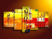 More Panel Oil Painting Abstract Framed 5 Panel 100% Handpainted High End Large Lovers Oil Painting on Canvas Interior Decoration Home Wall Art Pictures XD01541