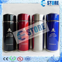 Metal alkaline cups - 10pcs Energy cup Stainless Steel alkaline water ionizer flask nano energy cup with filter wu