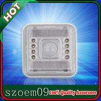 Wholesale 8 LED m Degree Home Outdoor Wireless Square PIR Infrared Night Detector Motion Auto Sensor Lamp Light