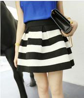 Wholesale High quality European American Fashion womens zipper stripe kintted high waist tutu skirt umbrella skirts ladies mini D