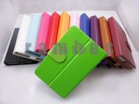 Universal Tableta de 7 pulgadas de Cuero Cubierta de la caja con Soporte de 12 Colores Disponibles 300pcs/lote