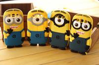 Cute 3D Cartoon Despicable ME Soft Silicone Minions Cover Ca...
