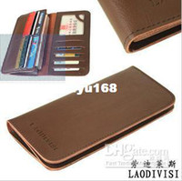 Wholesale Brand name genuine Leather Wallet for men Genuine Leather purses
