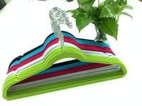 Garment velvet hanger - No Slip Soft Touch Velour Heavy Duty Space Saving Hangers colorful antislip Velvet hangers B