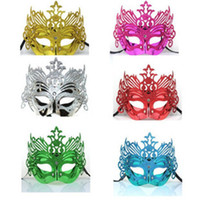 Wholesale Masquerade costume party new year christmas halloween dance women sexy Crown queen mix face mask venetian masks