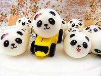Wholesale 10cm Kawaii Large Panda Squishies Jumbo Squishy Bread Artificial Food Accessories Squishy Bun