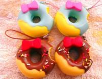 4.5cm Kawaii Bolsa encanto Squishies buñuelo envío Wholesale Donut Rare blando Pan / llavero para el teléfono móvil