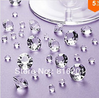 Wholesale 1000pcs Acrylic Clear mm CT Diamond Confetti Wedding Reception Table Scatter Decoration