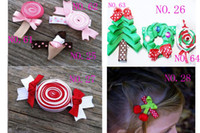 Wholesale hairbows girl cute animals cartoon hairs clips Hair Accessories girl of grosgrain ribbon CH03