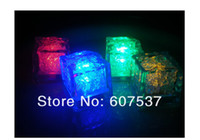 Wholesale mm LED waterproof luminous ice induction ice cubes seven color can choose