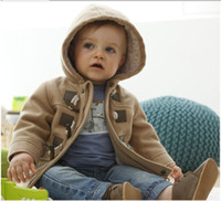 Wholesale Hot SALE winter Fashion Forn Button Child Thickening Outerwear Overcoat Male Children Outerwear Boy Jacket Retail Baby Coat