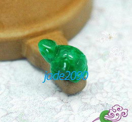 Free Shipping - Hand carved lovely Natural green jade carved sea Turtle Amulet charm pendant   necklace
