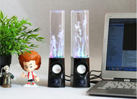 Wholesale Water Dancing Computer Stereo Speakers Audio USB LED Fountain For PC iPod iphone amp