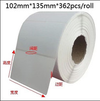 Wholesale Thermal Transfer Labels Blank stickers mm mm roll coated paper barcode labels