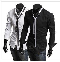 Wholesale Men s Fashion casual longleeved shirt DE018