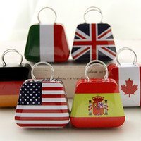 Wholesale hoem deco fashion cute mini bag jewelry storage iron flag storage box Metal Jewelry Caset
