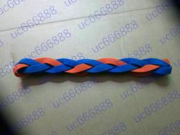 New!!! The girl elastic hair band hairband Braided Mini Headbands Soft Nylon headband Silicone keep the band in place