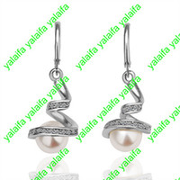 Wholesale High Quality New Fashion Jewelry Pair K Gold Plated Austrian Crystal Earring LKN18KRGPE012