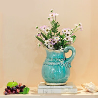 Wholesale Chinese Vases for Flower Stand Europe Ceramic Promotional Flower Vase Flower Pot