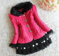 Girl Winter Leather Kids Leather Jackets Child Clothing Wear Girls Cute Polka Dot Lace Coat Children Outwear Fashion Princess Jacket Girl Clothes Winter Jacket8