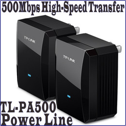 Wholesale Chinese Firmware TP LINK TL PA500KIT a pair AV500 Mini Power line Adapter up to Mbps Ethernet Network Powerline Adaptor No Color Box