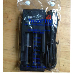 TrustFire 001 TR001 Lithium Battery Charger for 10440 14500 16340 17670 18500 18650 EU US Plug(Black Color)