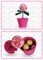 Wholesale LLFA2811 Special ROSE Non Woven High Quality Paper Gift Boxes for wedding favor candy jewely flower boxes DIY