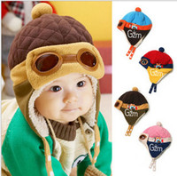 baby diary - Winter new style Baby plush Cap Diary of Lei Feng Boys Girls Hat Kids Ear protection cap Stunning aviator thicken wool flock TS56