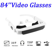 Wholesale LOOKi inch Virtual screen Resolution Widescreen Video glasses GB for ipod iphone s ipad