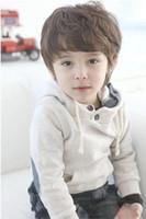 achat en gros de gros dong-2013 nouvelle qiu dong vêtements pour enfants plus de velours couleur unie chandail à capuchon garçons de gros