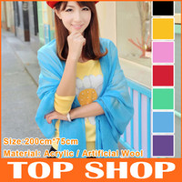 Wholesale Scarves Acrylic Warm Pure Scarf Autumn New Style Multicolor Fringed Shawl Color