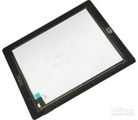 Wholesale Original Touch Screen Glass Digitizer with Adhesive And Button for ipad ipad2 Black White
