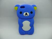 Wholesale 3D Brown Lazy Bear Rilakkuma Bear Cute Cartoon Covers Case For iPhone C