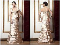 beaded waistcoat - Charming Champagne Rhinestone Beaded Strapless Bowknot Waistline A Line Sexy Wedding Dress With High Neck Waistcoat Empire Waist
