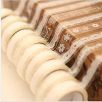 Wholesale Masking Tape Transparent lace Diy Tower Date Tag bookmark Gift packaged band Sticky Koreastyle different styles