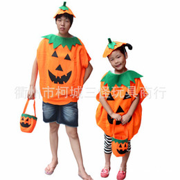 Wholesale Halloween Halloween costumes stage clothes woven pumpkin adult children clothing suit