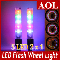 LED bike bicycle - Colorful Rainbow LED Bikes bicycle Wheel Signal Lights Tire Wheel Valve Led Flash Light pairs