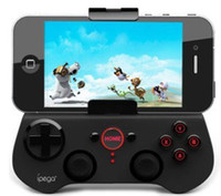 Wholesale iPega Wireless Bluetooth Game Joysticks Controller Android Bluetooth Gamepad Joystick For iPhone iPad Android Cellphone DHL